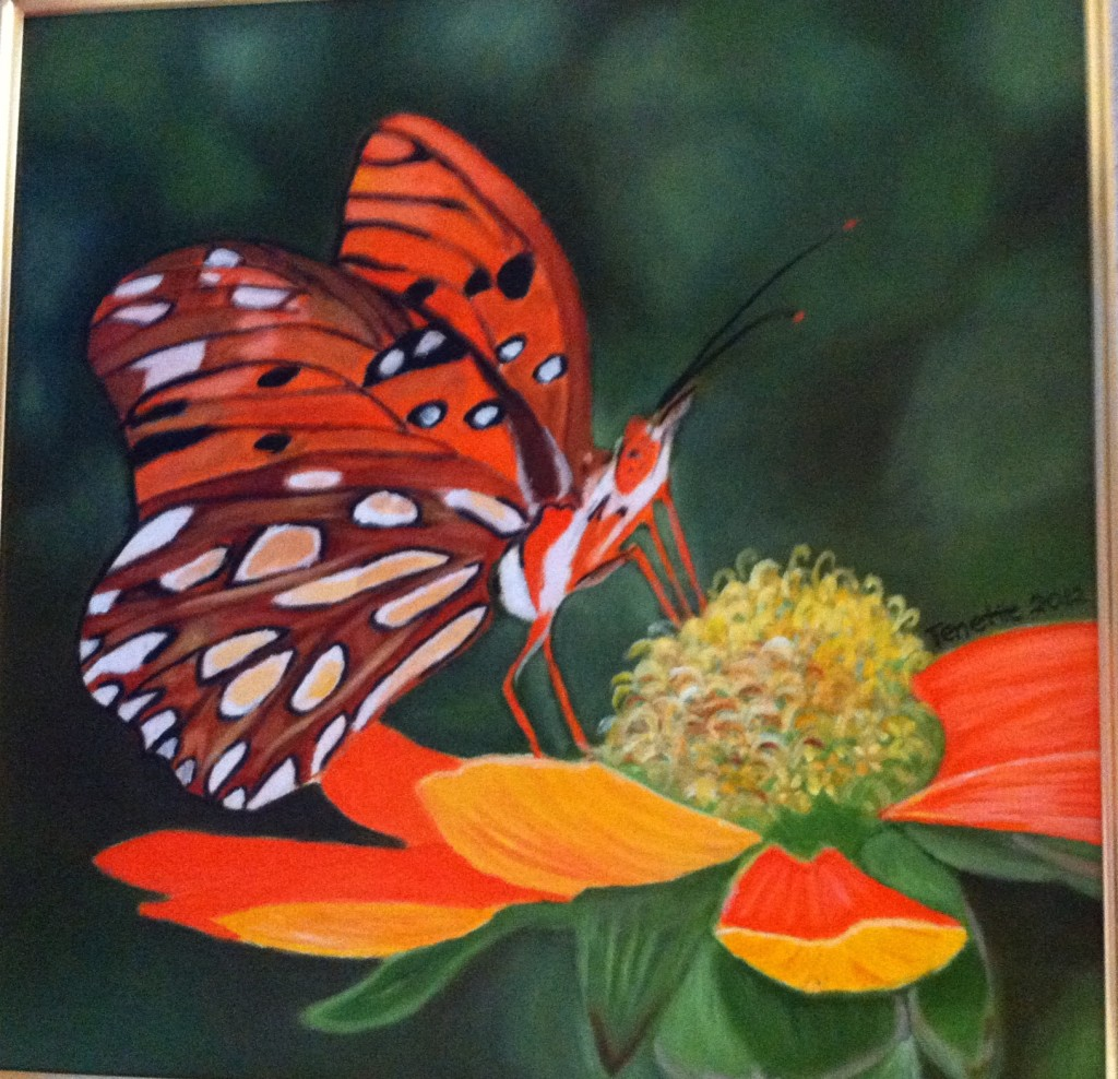 Orange Butterfly by Tenette Racho